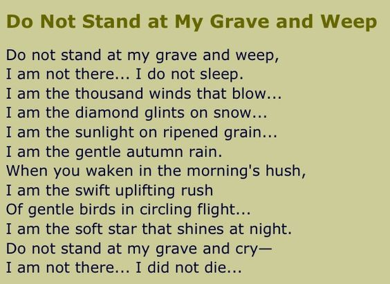 An Irish poem-Jimmy's uncle read it at my father-in-law's funeral. How perfect.: