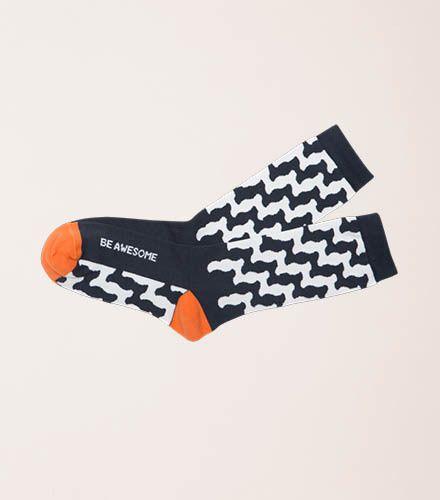 Be Awesome Socks by Posie Turner