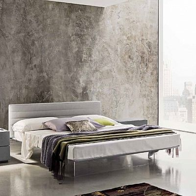 White, ultramodern 'Craigha' Double Bed. Contemporary design, modern and minimalist. Comfortable bed. My Italian Living