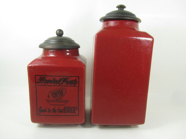 17 best ideas about red canisters on pinterest red kitchen canisters red and white kitchen