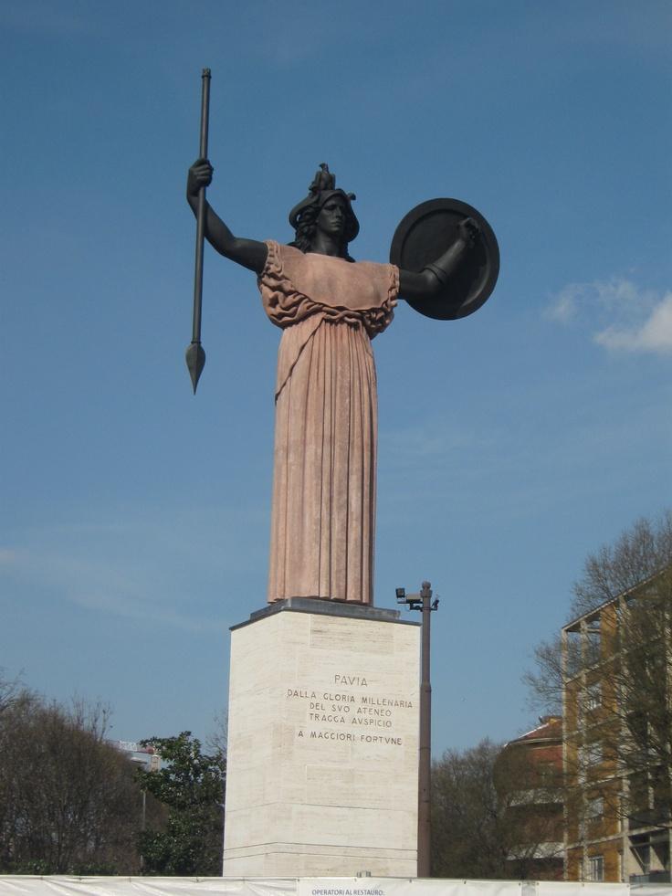 Monument of Pavia.   Pavia. Italy.