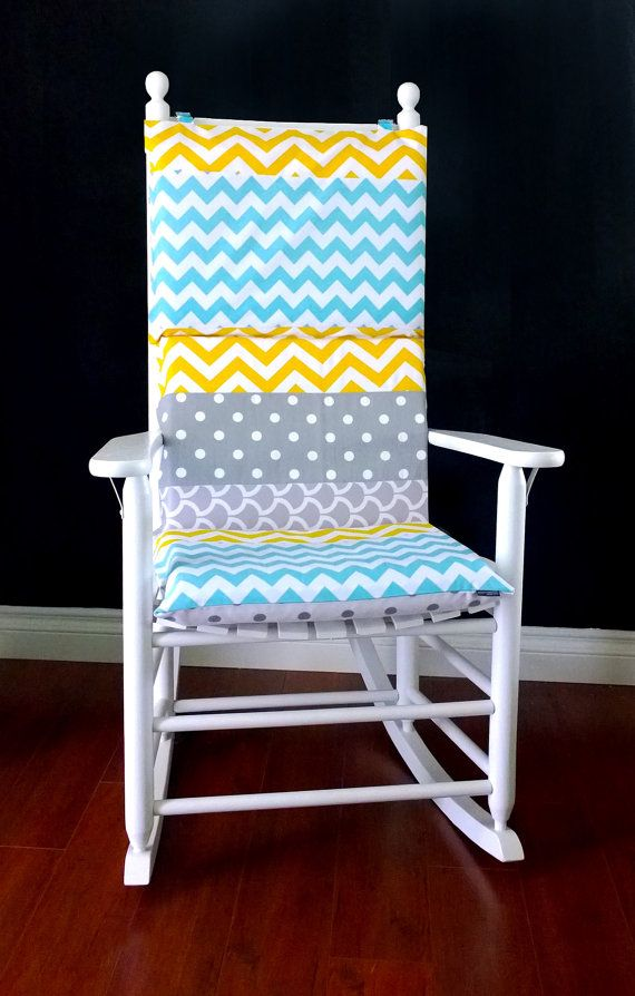 rocking chair cushion cover yellow grey blue chevron 10156 | aedcaa0a0cae97fd4aad5c1a75131e85 rocking chair cushions rocking chairs