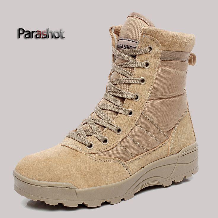 Военная тактическая боевая открытых площадках армейцы ботинки пустыни туфли botas туризм осень путешествовать кожи сапоги мужчин купить на AliExpress