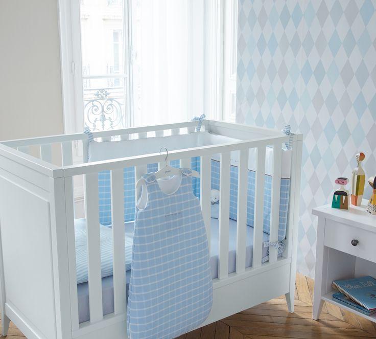La chambre du tout petit Jacadi Paris #bebe #bebegarçon  #chambrebebe #litbebe #gigoteuse