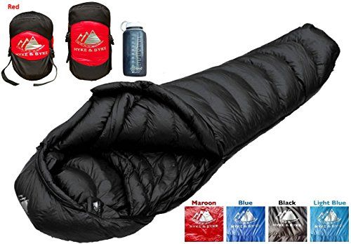 Ultralight Mummy Down Sleeping Bag - 15 Degree 4 Season, Lightweight Design for Backpacking, Thru Hiking, and Camping - Under 2 lbs 14 oz w/ Compression Sack (Blue, Regular). For product & price info go to:  https://all4hiking.com/products/ultralight-mummy-down-sleeping-bag-15-degree-4-season-lightweight-design-for-backpacking-thru-hiking-and-camping-under-2-lbs-14-oz-w-compression-sack-blue-regular/