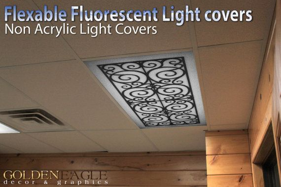 Change the look of any fluorescent light fixture with our special light lens covers from Golden Eagle Décor and Graphics!  Our specially