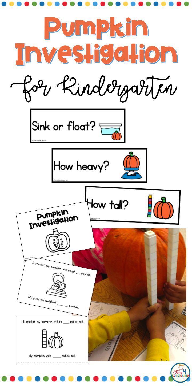 Pumpkin Math Activities For Kindergarten And First Grade Predict And Explore With This Re Pumpkin Math Activities Kindergarten Math Activities Math Activities [ 1440 x 720 Pixel ]