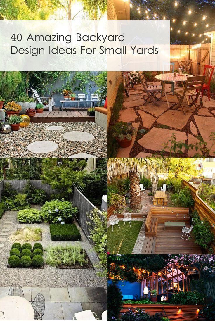 40 Amazing Design Ideas For Small Backyards  Definitely need to save this one!