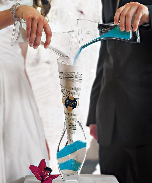Unity Sand Ceremony Nesting 3 Piece Vase Set - Pink Frosting Wedding Shop