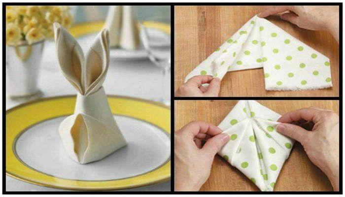 Μάθε πώς να διπλώσεις τις πετσέτες για το πασχαλινό τραπέζι!