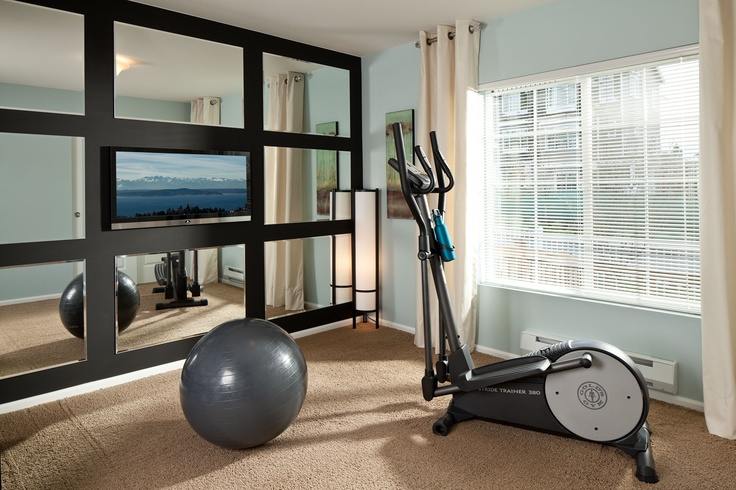 35 best gym work out rooms images on pinterest home gyms exercise rooms and home gym design. Black Bedroom Furniture Sets. Home Design Ideas
