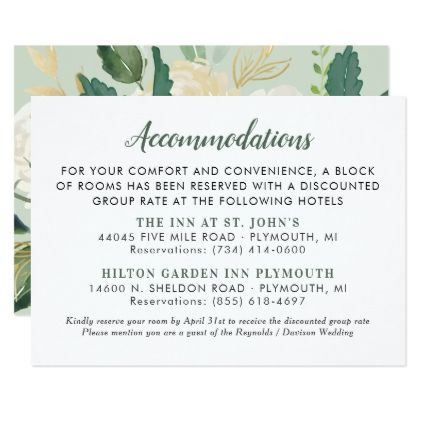 Wedding invitation room block wording on invitations
