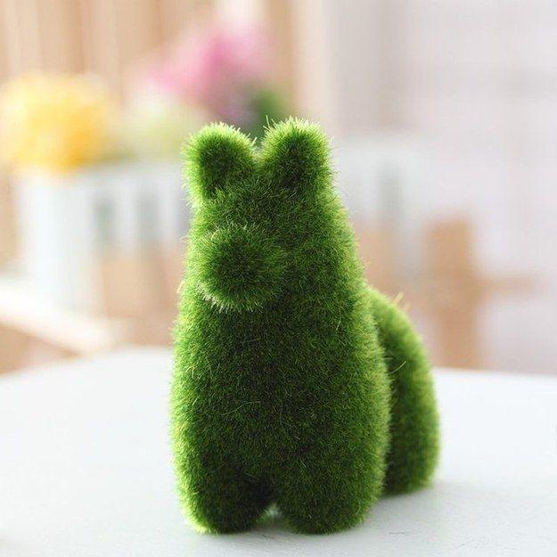 Este animal peludo de planta es casi tan bueno como una mascota real y no requiere ningún cuidado.
