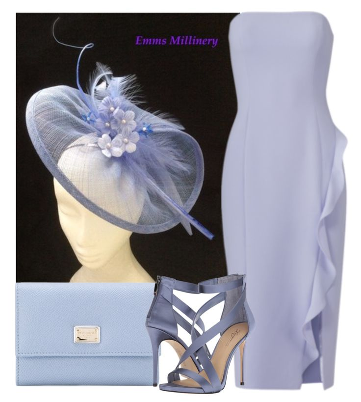 """Outfit idea for """"Periwinkle"""" by Emms Millinery  Dolce&Gabanna/Jay Godfrey/Imagine Vince Camuto Devin"""
