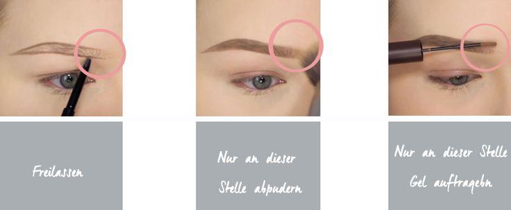Augenbrauen schminken: Wichtige Schritte