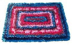 recycled denim scatter rug from denim type fabrics