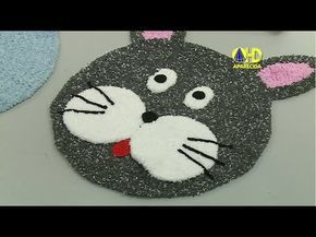 Vida com Arte | Tapete gato em crochê por Simone Eleotéreo - 12 de Janei...