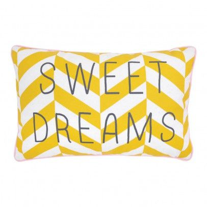 Rose in April Sweet Dreams Striped Cushion 30x20cm `One size Details : Cotton, 100% polyester filling * Composition : 100% Cotton, Stuffing:, 100% Polyester * Color : Yellow * 20 x 30 cm. http://www.MightGet.com/january-2017-13/rose-in-april-sweet-dreams-striped-cushion-30x20cm-one-size.asp
