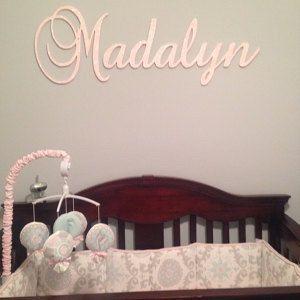 Personalized Decor  baby name plaque nursery by acharmedlifeinc