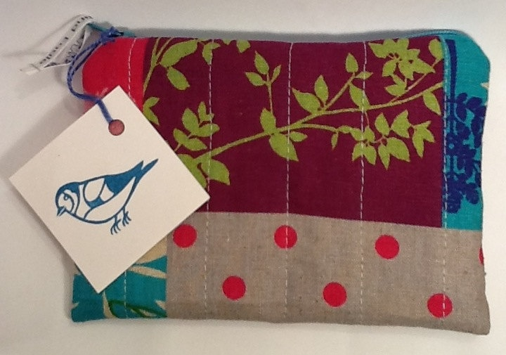 Colourful Japanese Echino fabric Zip Purse/Pouch. £8.00, via Etsy.