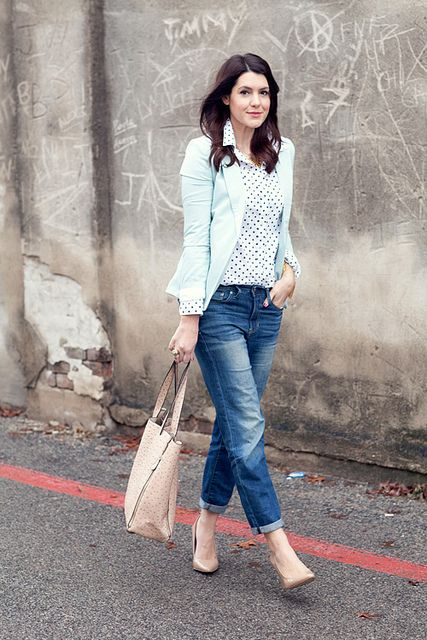 A Gap blouse and jeans as featured on the blog Kendi Everyday.