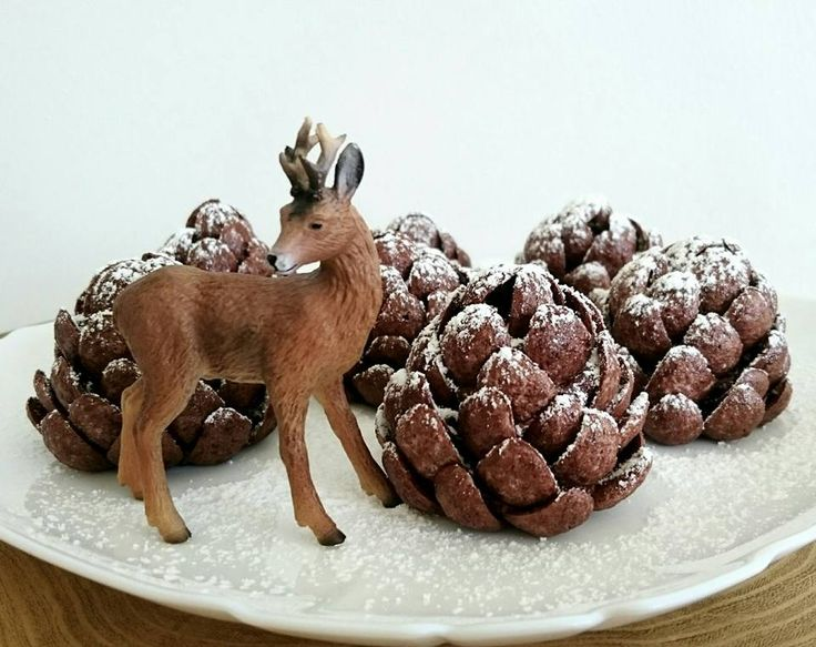 Sütés nélküli, ehető tobozok, karácsonyi sütemény!  Without baking! Pinecones! Christmas!