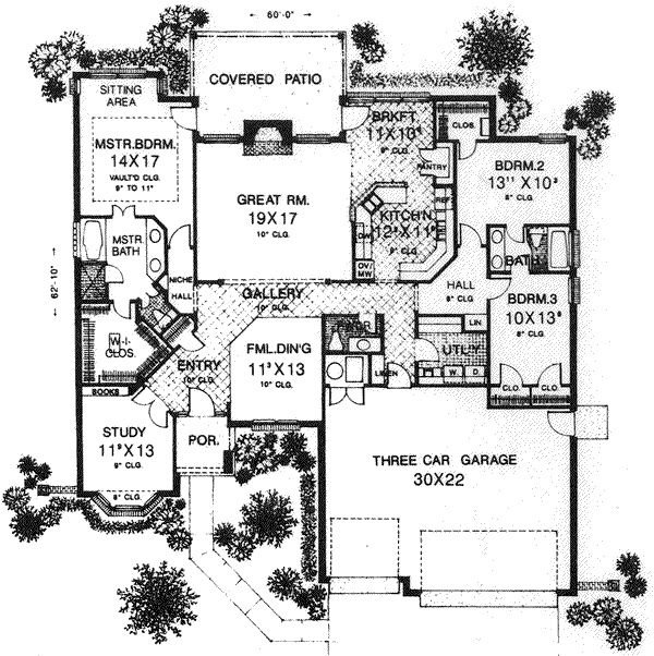 Ranch floor plan house plans pinterest for Ranch floor plans with mudroom