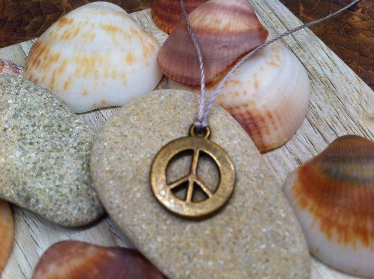 PEACE sign SYMBOL Charm necklace Delicate Subtle jewelry Unique Teen Girl youthful jewelry by wandandwear on Etsy