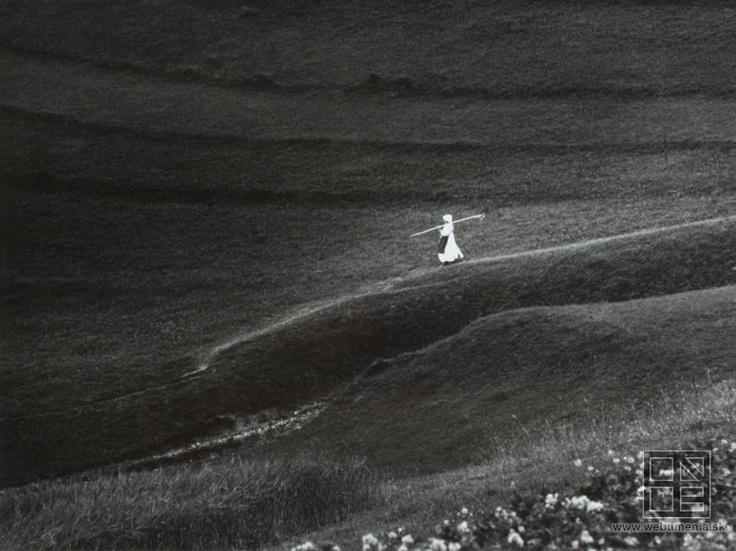 Igor Grossmann: On the way from the field / Cestou z poľa. Liptovská Lúžna (1964)