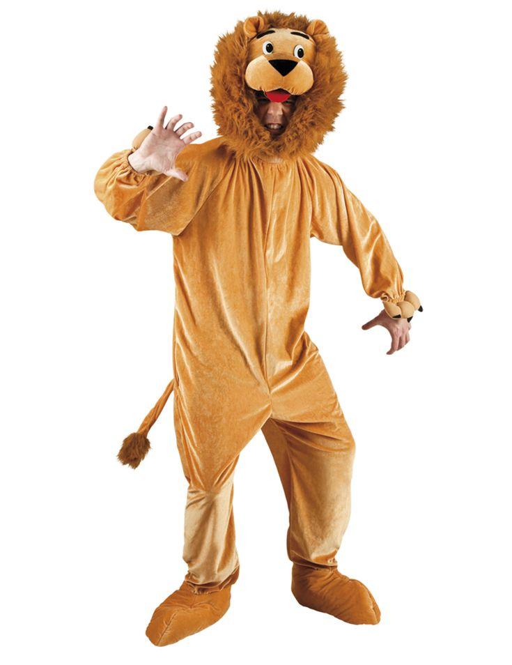 Disfraz de león mascota adulto: Este disfraz de león para adulto incluye traje y capucha.El traje marrón claro tiene efecto satinado. Tiene una cola de león.Los puños tienen gomas y los pies se sujetan...