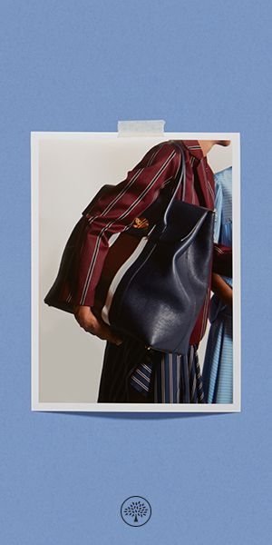Shop the Oversized Bayswater in Midnight, White & Burgundy College Stripe Small Classic Grain Leather at Mulberry.com. Creative Director Johnny Coca has taken the iconic Bayswater and redesigned it into a contemporary luggage style. Referencing the collection's theme of Oxbridge colleges, the Oversized Bayswater has been adorned by collegiate stripe variations in colours characteristic of British school uniforms.