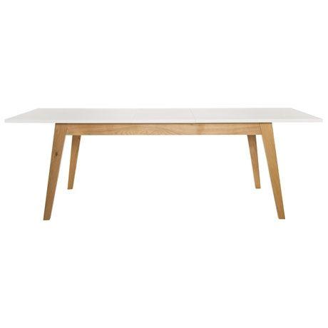 Frieda Extension Dining Table   Oak/White | $899