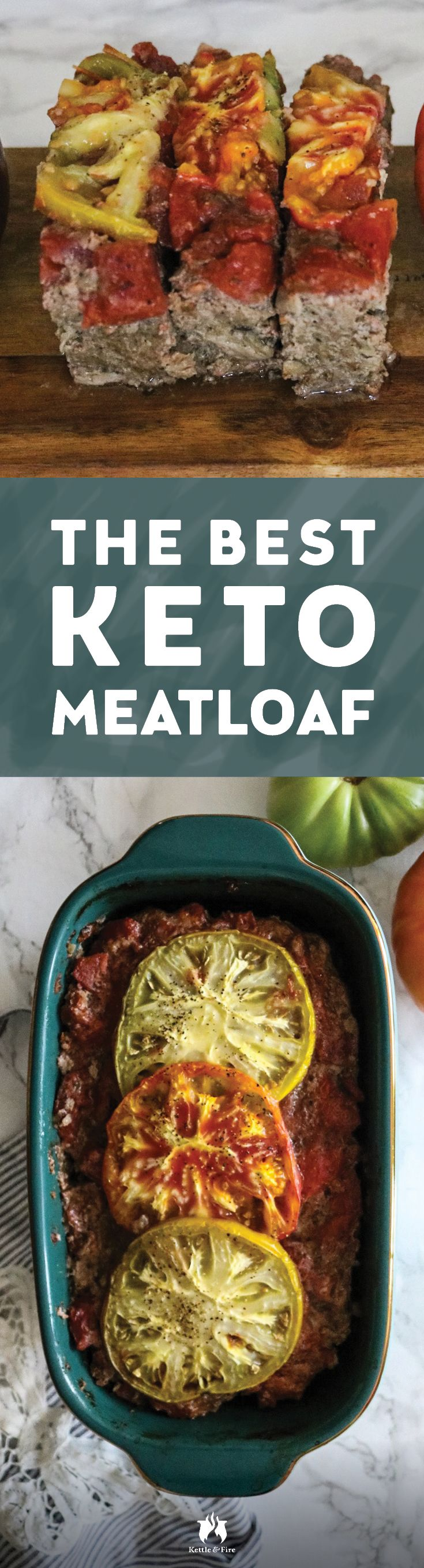A juicy, flavor-packed keto meatloaf topped with a tangy and sweet tomato sauce that is gluten free and low carb to meet your keto needs.