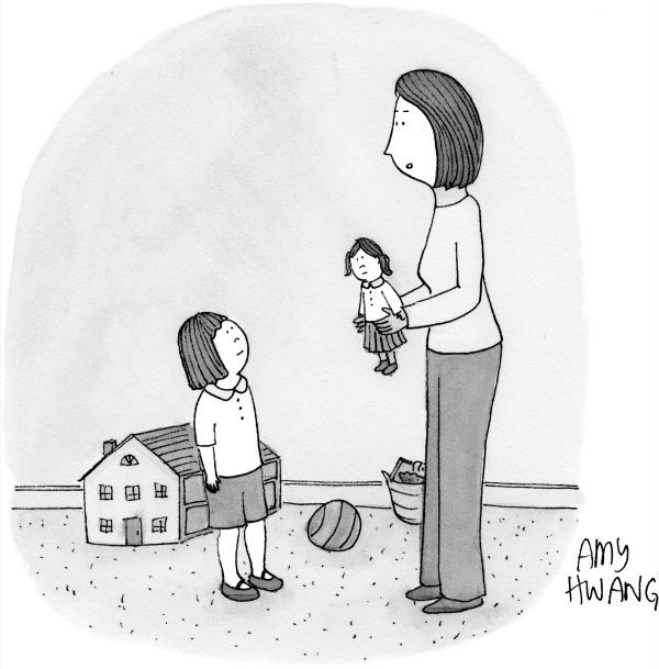 """""""Here is your very own doll, so you can see how tiring it is to raise a child."""""""
