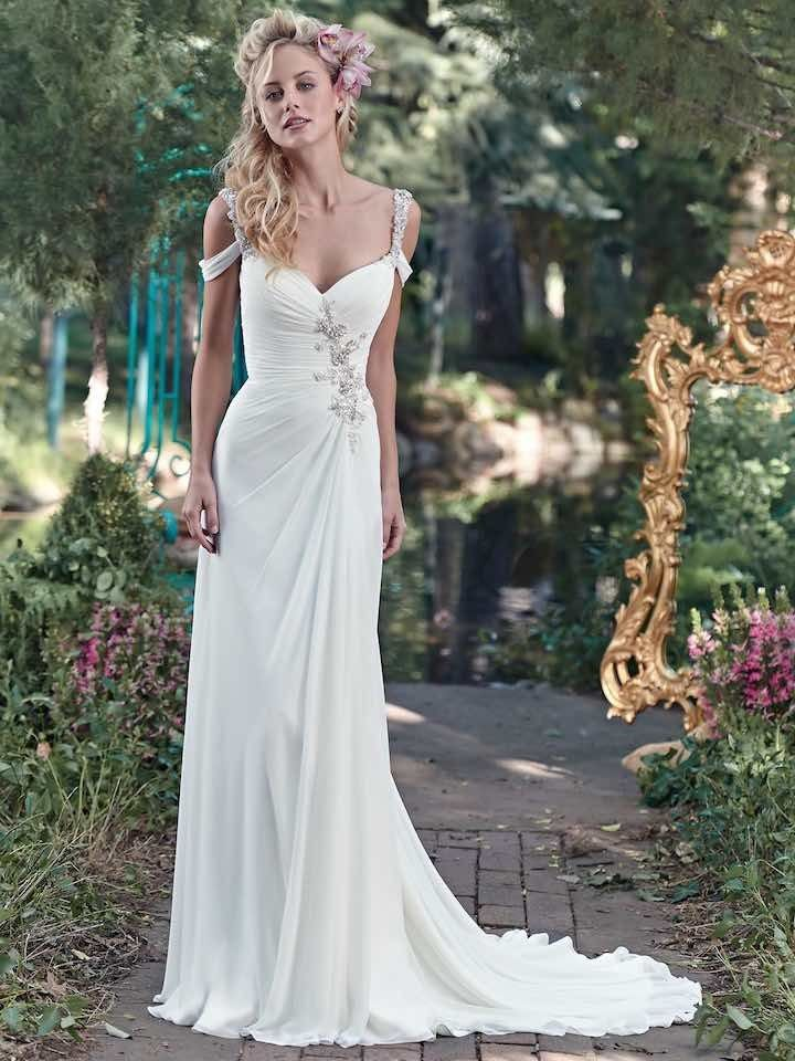 Maggie Sottero Wedding Dress for a beach wedding