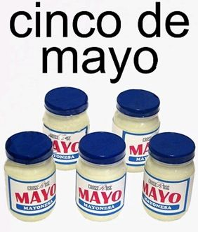 Cinco de mayo(nesa), ¡jajaja! I schedule something funny to post via edmodo before school starts and I give class participation points to students who comment on the post in Spanish.  I have students using and sharing the language before they even come to class!  :)