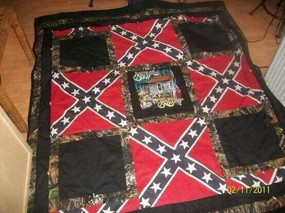 Rebel flag blanket