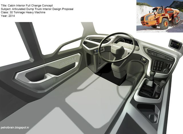 Transportation Design: Truck Interior #1