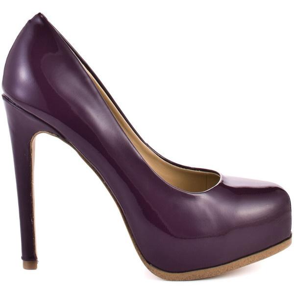 Kelsi Dagger Linzy - Purple Patent ($100) ❤ liked on Polyvore