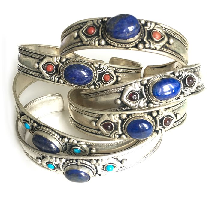 Bracelet Céleste, Bracelet, Bracelet du tibet, bracelet, bangle, amulette, tibetan jewelry, jewelry, dorje, boho, gipsy, lapis lazuli