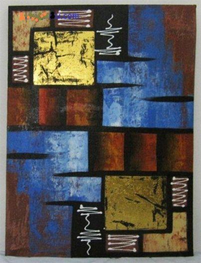 Lukisan Modern Abstrak - Deco 006 sangat cocok di pajang di ruang tamu anda.