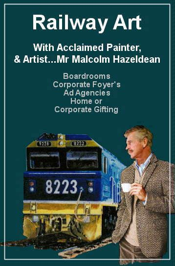 Completely enjoy world leading quality with Railway artist Malcolm Hazeldean Boardrooms – Commercial Foyers – Home & Office space https://www.youtube.com/watch?v=s1rg_kixu_w greatvideo@yahoo.com.au