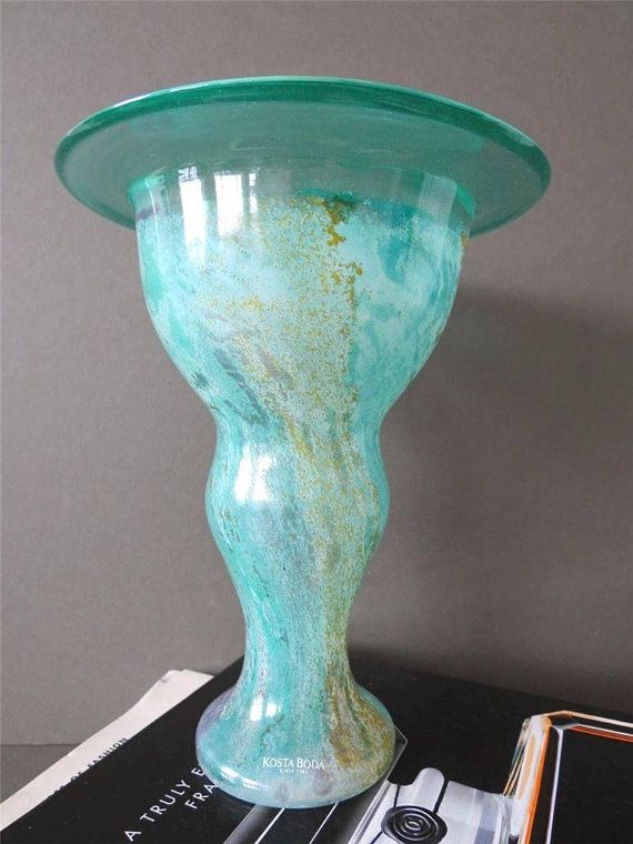 Vintage Kosta Boda Glass Vase Kjell Engman Artist by uulipolli
