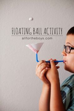 Floating ball activity - great for kids who need to take deep breaths