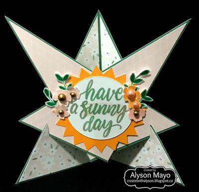 Sunny Day Triangular card