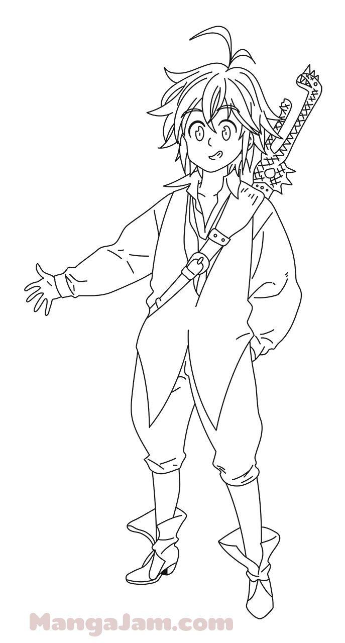 How To Draw Meliodas Full Body From Nanatsu No Taizai Meliodas