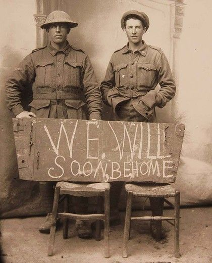 Australian soldiers looking forward to being home.