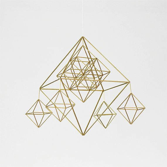 geometric mobile by HRUSKAA