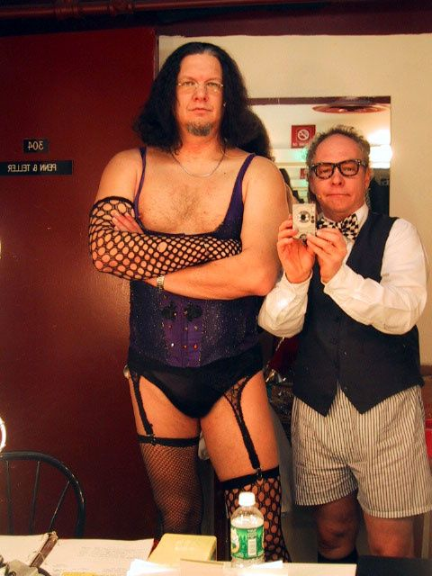 Penn & Teller do Rocky Horror?  I'm not sure.  I don't know the story behind this photo but I love it.