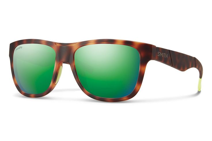 Smith Optics Lowdown Slim Chromapop Sunglass, Matte Tortoise Neon, Sun Green Mirror